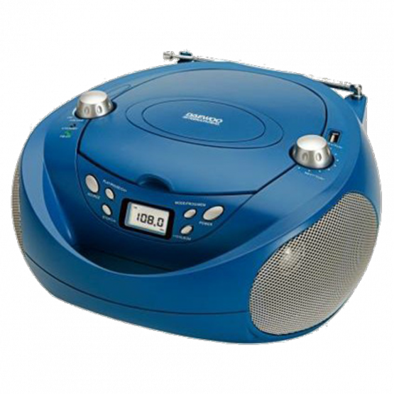 Radio CD Daewo DBU37 Azul