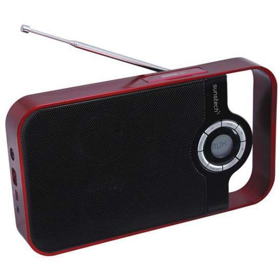 Radio portatil Digital Sunstech RPDS250RD Rojo