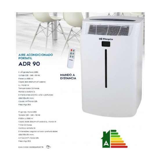 Aire acondicionado portatil orbegozo adr 90 electrodomesta for Consumo aire acondicionado portatil