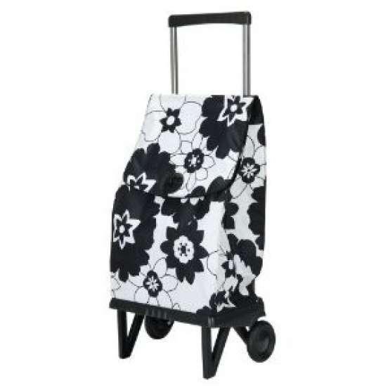 Rolser plegamatic orbita flor blanco negro carro rolser for Carro compra moderno