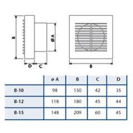 Extractor Baño Ruido: Climatizacion Extractores Extractor baño Cata B-10 910000
