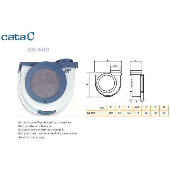 Extractor cocina cata gs 600 electrodomesta - Extractor cocina cata ...