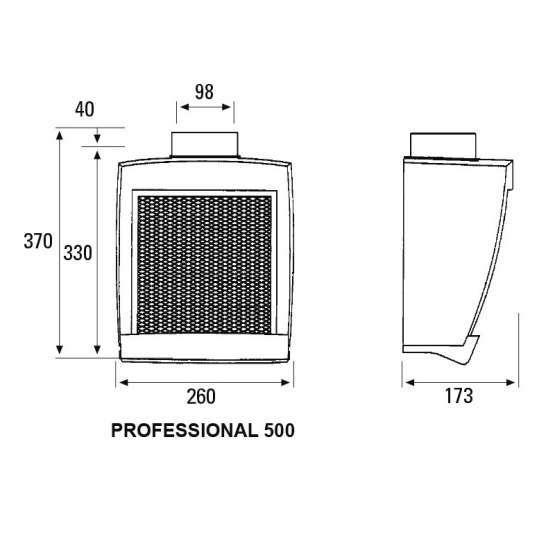 Extractor cocina cata professional 500 electrodomesta - Extractor cocina cata ...