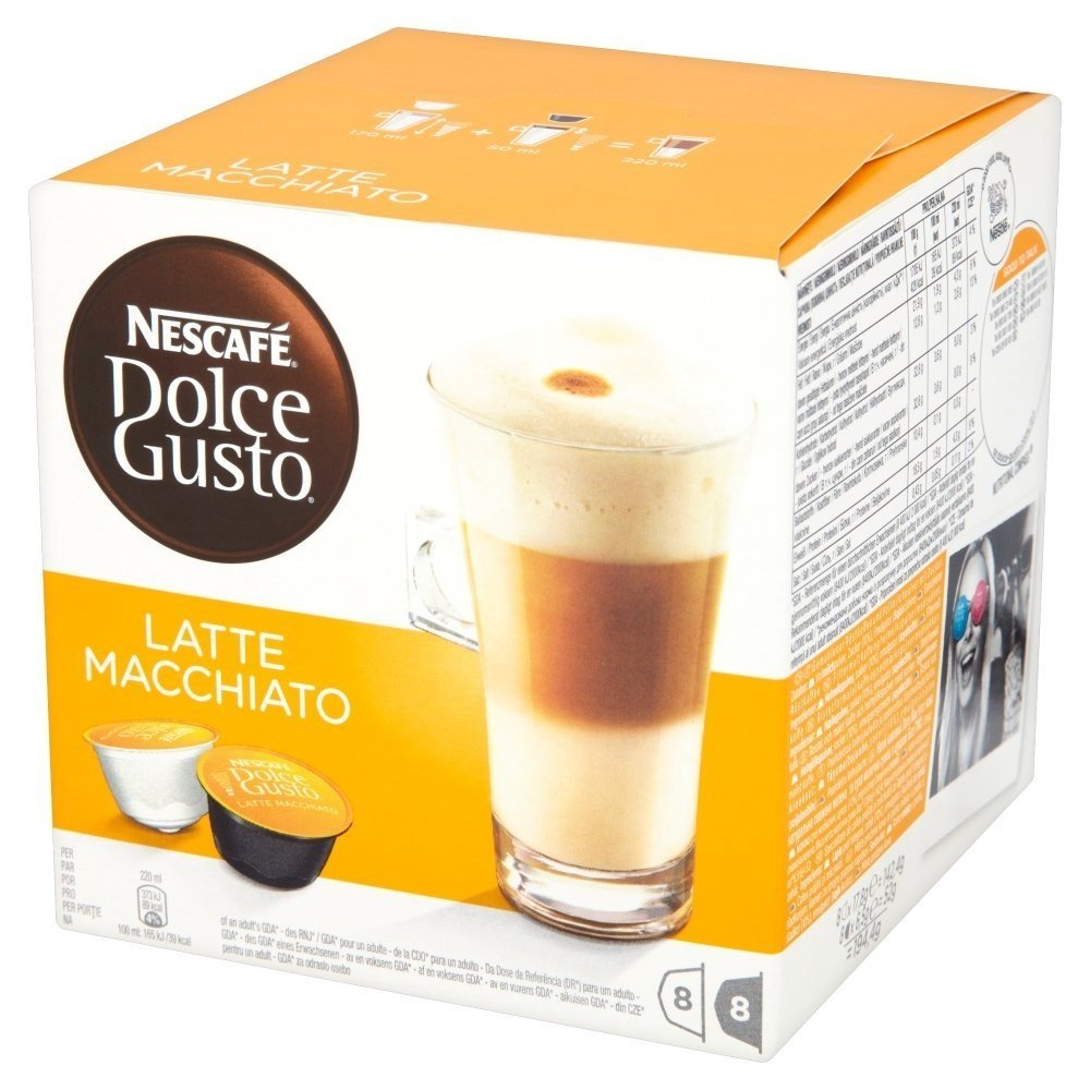 caspulas de cafe latte macchiato dolce gusto cafe latte. Black Bedroom Furniture Sets. Home Design Ideas